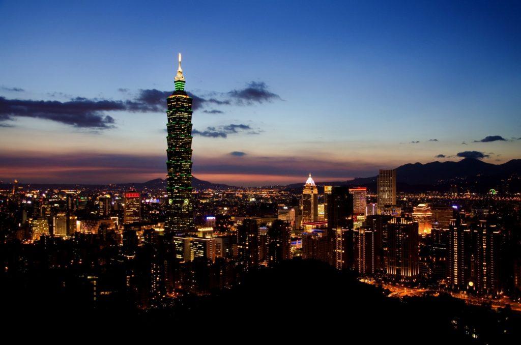 夜景が綺麗な台北101